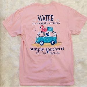 NWOT simply southern flamingo T-shirt